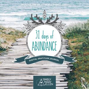31 Days of Abundance Digital Gratitude Journal